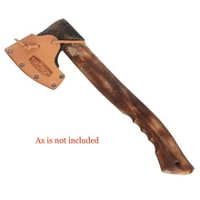 Tourbon Hunting Axe Hatchet Blade Cover Ax Head Sheath Case Belt Holster Genuine Leather Accessories 12*8.5CM(Do not include ax)