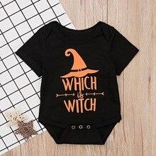 Для новорожденных, для маленьких мальчиков и девочек короткий рукав с надписями, комбинезон, боди для малышей, наряды на Хэллоуин, на возраст от двух до восьми боди