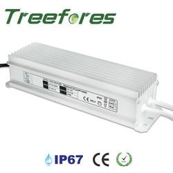 Treefores IP67 80W 100W 150W transformator led AC100V-240V do DC 12V 24V CE wodoodporny zasilacz
