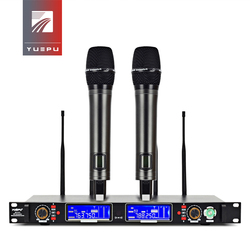 Long Receiving Range! YUEPU RU-S16 True Diversity Professional Microphone Wireless System 4 Antennas Strong Signal for Stage
