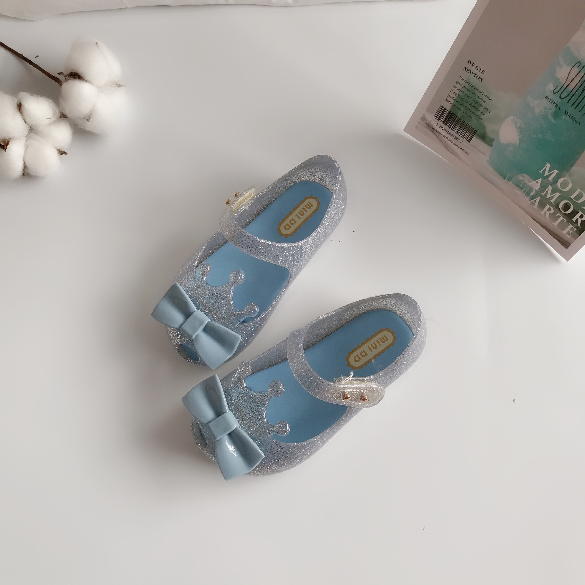 Mini Melissa 2020 Boy Girl Bow Jelly Shoes Sandals New Baby Shoes Melissa Sandals For Kids Non-slip Sandalias