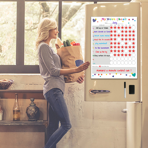Image 5 - Magnetic WhiteBoard Kids Schedule for Fridge Sticker Weekly Planner To Do List Notepad Message Board Reward chart Art Sticker