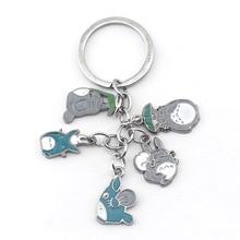 Anime Metal Totoro Keychain Key Holder Tonari no My Neighbor Mini figure Mei chain Gifts For Car