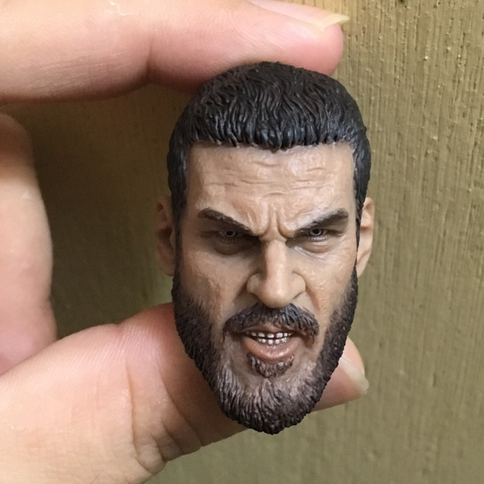 <font><b>1/6</b></font> male soldier <font><b>bearded</b></font> PMC head carving model pvc for 12 inch action figure accessories image