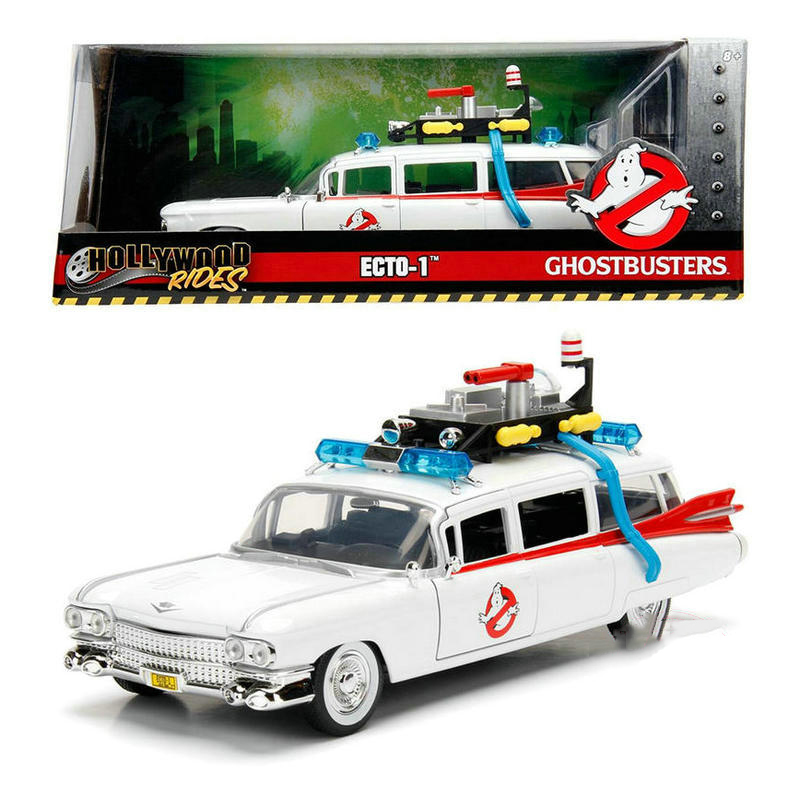 1984 1:24 Scale Ghostbusters Alloy Die Casting Vintage Car Simulation Collection Metal Vehicle Collection Traffic Memorabilia