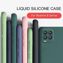 Para realme 8 caso para realme 8 pro 7 5g capa coque capa funda original silicone líquido macio tpu telefone pára-choques para realme 8 pro