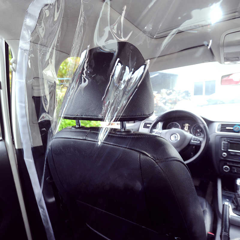 AmFor Car Taxi Isolation Film Transparent Plastic,Anti-Saliva Car Protective HD Plastic Film Front and Rear Row Curtain Cab Front and Rear Row Car Taxi Protective Film 1.4x1.8m//55x78
