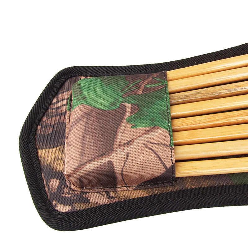 Portable Archery Crossbow Arrow Quiver Bag Holder Pouch Waist Hip Belts Useful