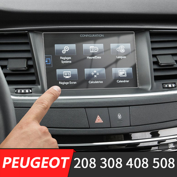 For Peugeot 308 408 508 208 4008 5008 Accessories Car GPS Navigation Screen Tempered Glass Protective Film LCD Screen Sticker image