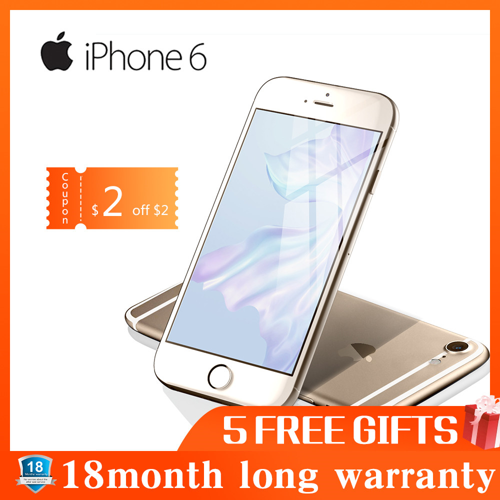 Refurbished Apple IPhone 6 Dual Core IOS Smartphone 4.7 Inch IPS RAM 4G LTE Mobile Phone  IPhone 6 ROM 16G 32G 64G 128G