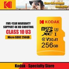 Kodak – Mini carte mémoire TF Micro SD de classe 10 U3, 32 go 64 go 100% go 128 go 256 go, 512