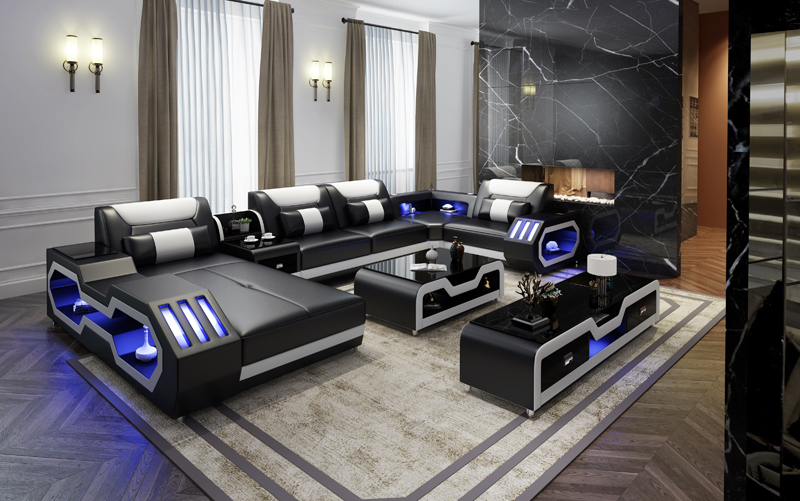 2020 Modern sofa set диван living room furniture muebles de la sala home furniture sofa camas muebles leather sofa 1