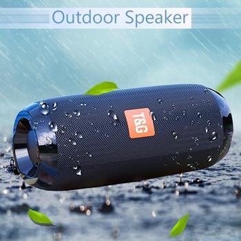 цена на Portable Bluetooth Speaker 20w Wireless Bass Column Waterproof Outdoor Speaker Support AUX TF USB Subwoofer Stereo Loudspeaker