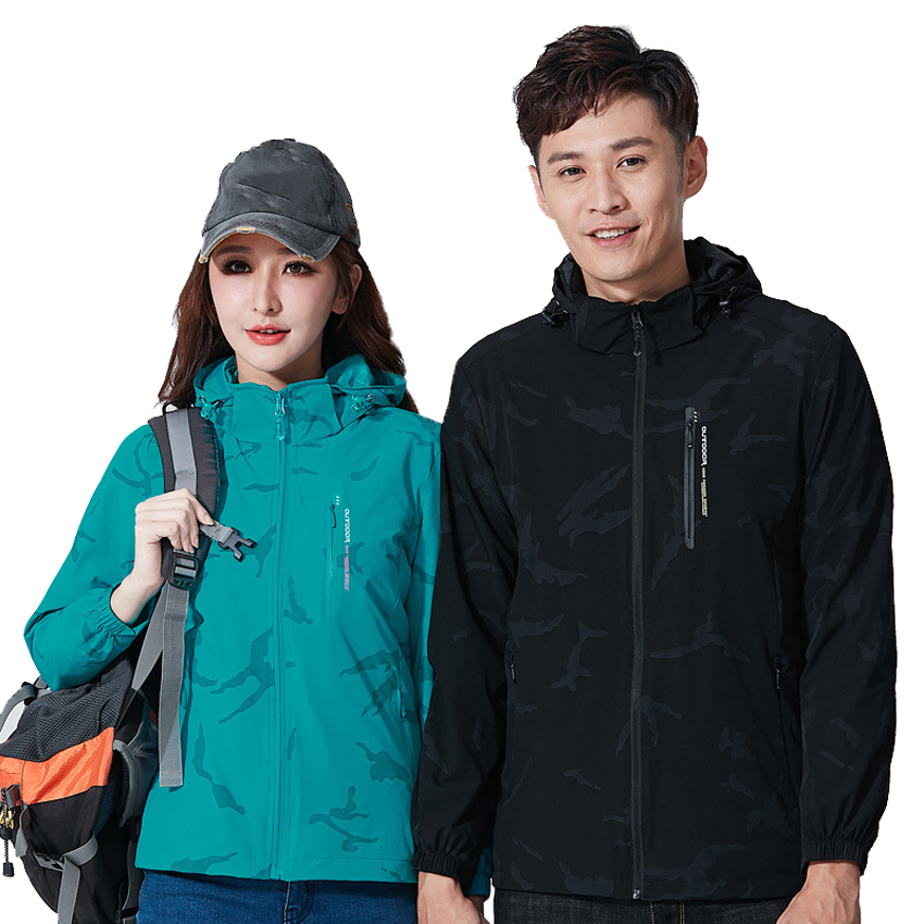 Men Women's Hiking Camouflage Jackets Outdoor Sports Breathable Windbreaker Camping Climbing Trekking Coats Male Clothing VA704
