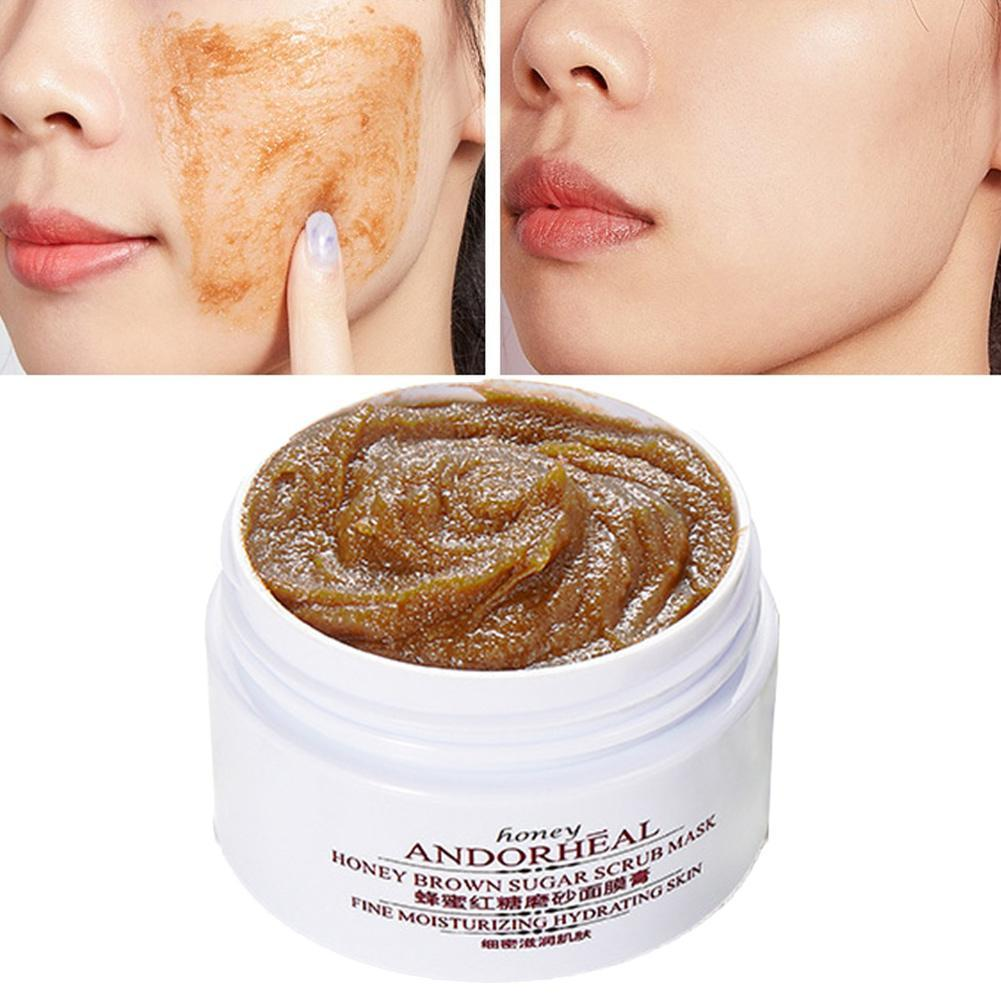 Exfoliating Face Mask Body Hands Scrub Honey Gentle Cleansing Dead Skin Cream Mask Moisturizing Whitening Facial Masks