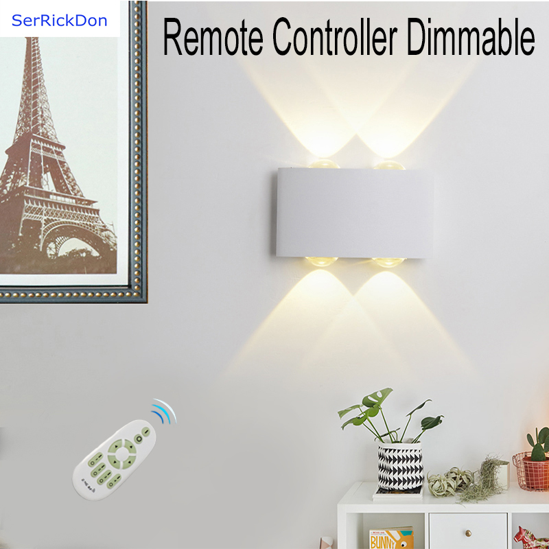 Dimmable The Remote Control LED Wall Lamp For Bedroom/living Room/dining Room/kitchen/corridor/study/KTV/bar