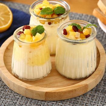 Szklane słoiki słoiki jogurtowe z pokrywkami PE słoiki szklane Pudding słoiki jogurtowe idealne na dżem miód ślub sprzyja kąski do kąpieli tanie i dobre opinie CN (pochodzenie) Szkło Butelki i słoiki przechowywania