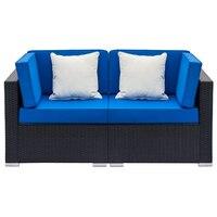 Patio Furniture Sets Panana Rattan Sofa Chair Table Set of 2 Wicker Garden Furniture Coffee Table Rattan Sofa Chair Stool
