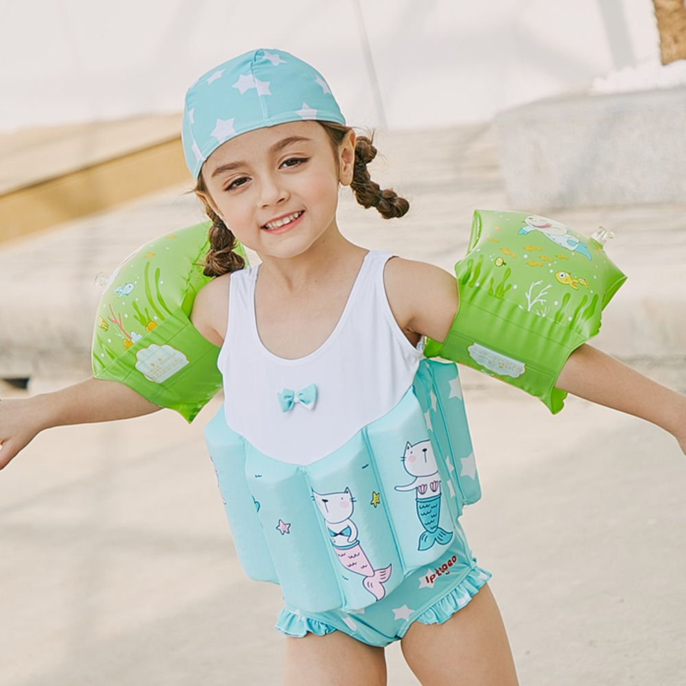 Sabolay KID'S Swimwear Deconstructable One-piece Vest Floating Mechanical Tour Bathing Suit Currently Available A Generation Of