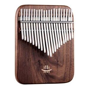 Keyboard Musical-Instruments Kalimba Black Walnut Thumb-Piano Curly-Figure Chamfer NEW