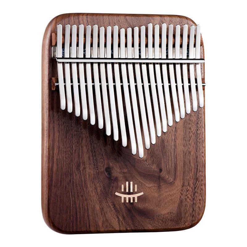 Hluru Kalimba 17 Keys Class A Calimba Instruments With Bag Christmas Present Gifts Black Walnut Keyboard Thumb Piano Musical Instrument