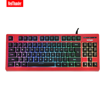 RedThunder K870 RGB Backlit Computer Wired Keyboard 87 Keys Teclado USB Powered for Desktop Laptop Gaming and Typing 1