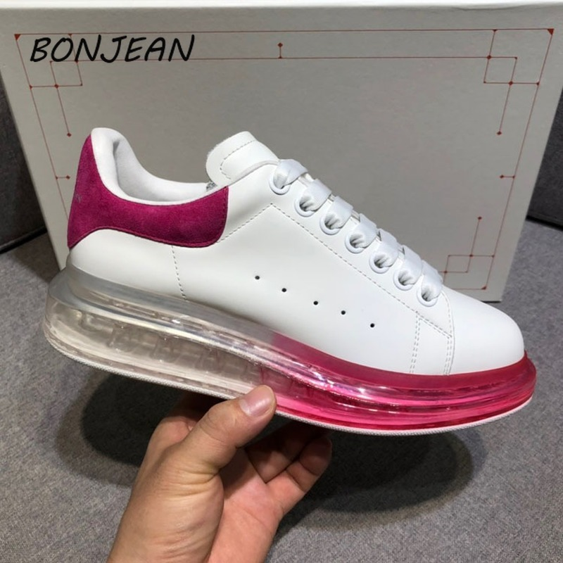 Bonjean Genuine Leather Women's Shoes Casual Shoes Luxury Shoes Crystal Air Cushion Bottom Fashion Shoes Off White Shoes sneaker