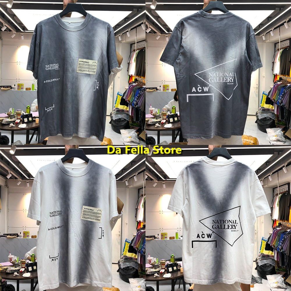 New Style A-COLD WALL* T-shirt 2020 Men Women Vintage Grey White Color A COLD WALL* Tee Classic ACW Frame Logo T-shirts Tops