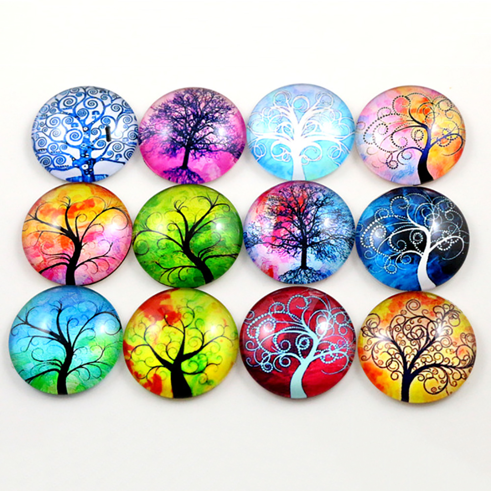 Hot Sale 10pcs 25mm Mixed Handmade Photo Glass Cabochons (D6-41)