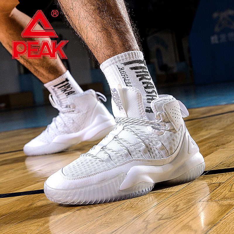 Peak Mannen Basketbal Schoenen Ademend Mesh Kussen Sneakers Antislip Wearable Straat Sportschoenen Gym Training Sportschoenen