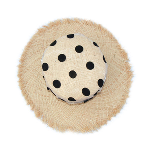 2020 Brand Design Organza Dot Polka Print UV Sun Protection Hats For Women Wedding Caps Ladies Raffia Summer Beach Hat Vacation