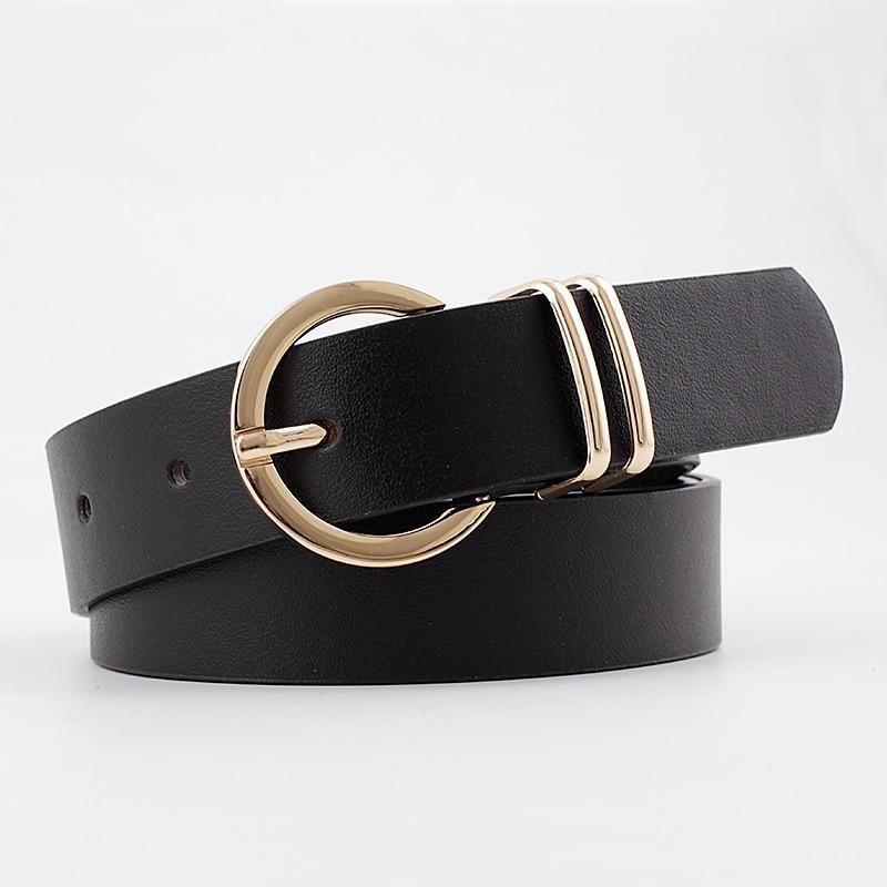 2020 New Designer Women's Wide Black Brown White Pink Wild Trouser Belt Female Cowgirl Western Belts For Women Cintos De Mujer