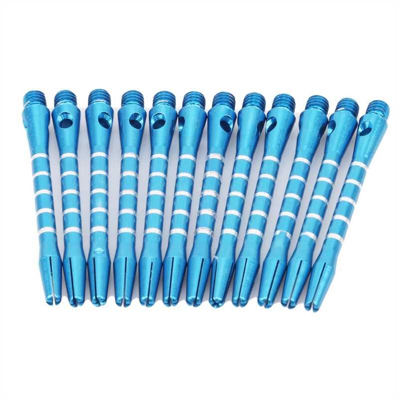12Pcs Darts Shafts Aluminum Stem Shafts 3 Colors 2BA Thread Dart ReplacementYRXG