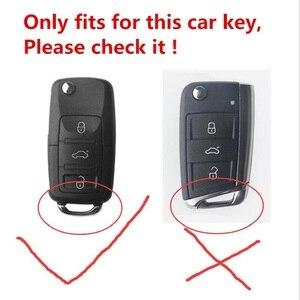 Image 4 - Funda de TPU suave para llave de coche resistente al desgaste, para Volkswagen, Passat, Golf, Jetta, Bora, Polo, Sagitar, Tiguan, nueva, sin llave