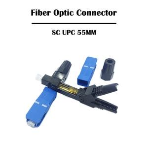 Image 3 - 100 stück SC APC/UPC Fiber Optical Stecker 55mm /52mm SM Single mode Kalten Anschluss FTTH vernetzung