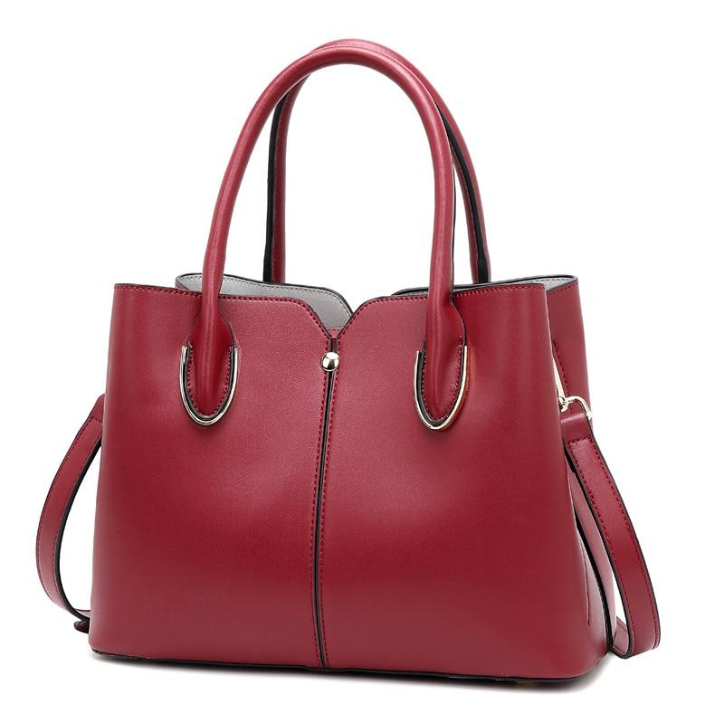 Vintage Boston en cuir véritable de luxe sacs à main femmes Messenger sacs Designer sac à bandoulière femme fourre-tout Bolsos Mujer décontracté C1182