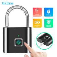 Goldene Sicherheit Türschloss Smart Keyless USB Aufladbare Fingerabdruck-schloss Für Locker Sport Schule Zink legierung Metall App Lock