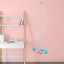 disney princess growth chart wall stickers for kids rooms home decor cartoon frozen height measure decals pvc mural art