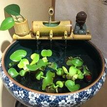 Бамбуковая трубка для украшения аквариума фэн шуй фильтр корыль