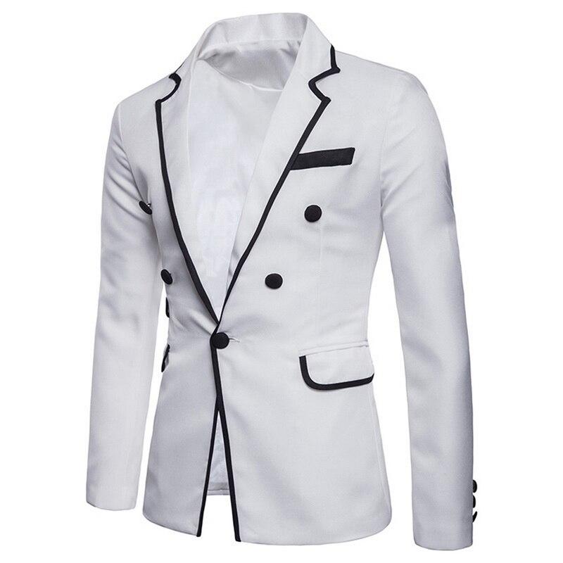 Mens Fashion Blazer British's Style Casual Slim Fit Suit Jacket Male Classic Blazers Men Suit Jackets Hot Sale