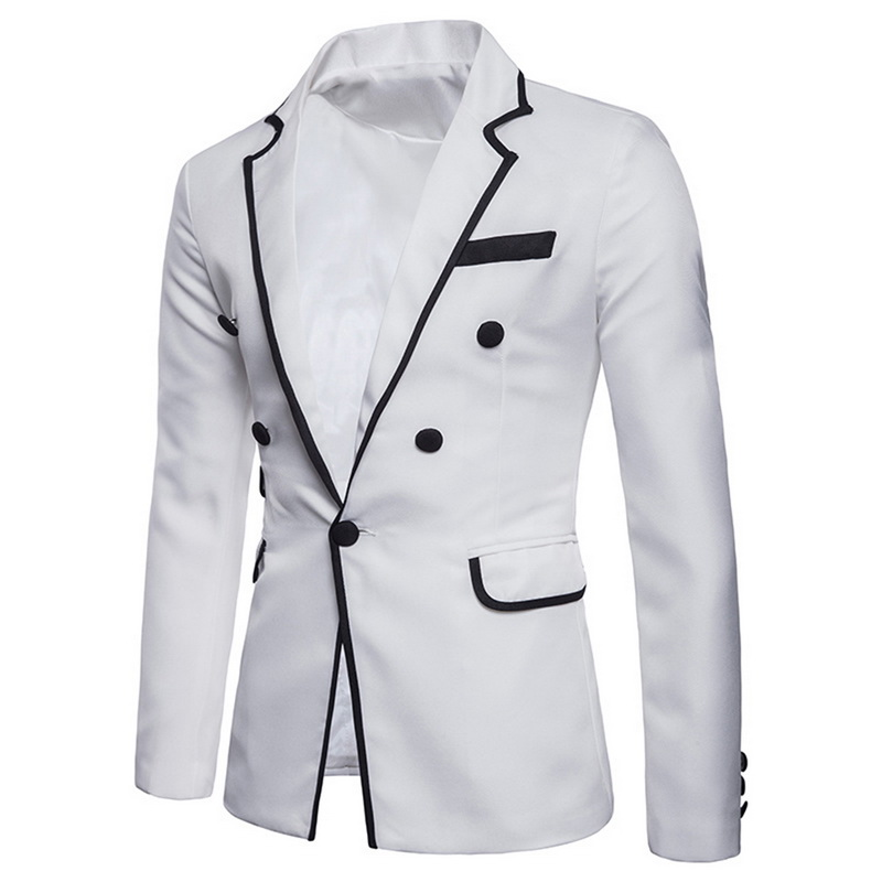 Mens Fashion Blazer Masculino British's Style Casual Slim Fit Suit Jacket Male Classic Blazers Men Suits Jackets