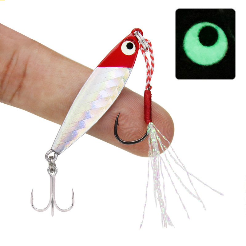 Fishing Lure Shore  Cast Jigs Mini Jigbait 4.5cm/7g  10g 16g 20g All Metal Artificial Lures Treble Jig Hook  1 Piece Sale