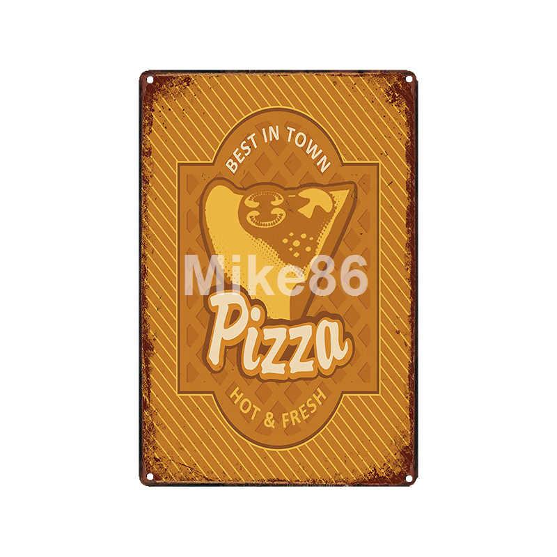 [Mike86] Pizza fromage SAUCE CHILI métal signe Vintage magasin rétro fer peinture affiche Art 20*30 CM LT-1902