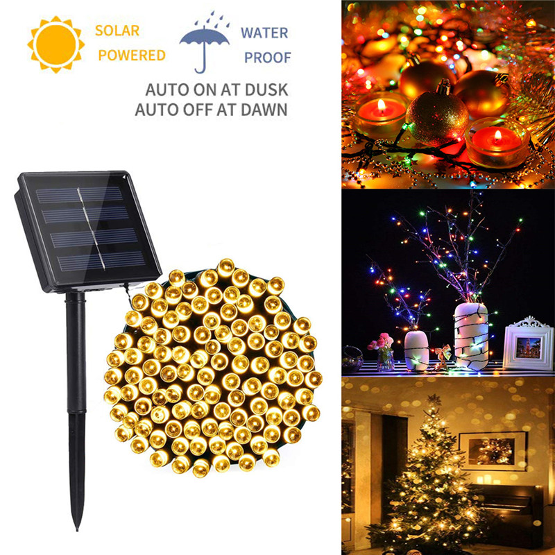Solar String Lights 72ft 200 LED Solar Powered Fairy String Lights Waterproof Garden Lights For Patio Home Wedding Party Xmas