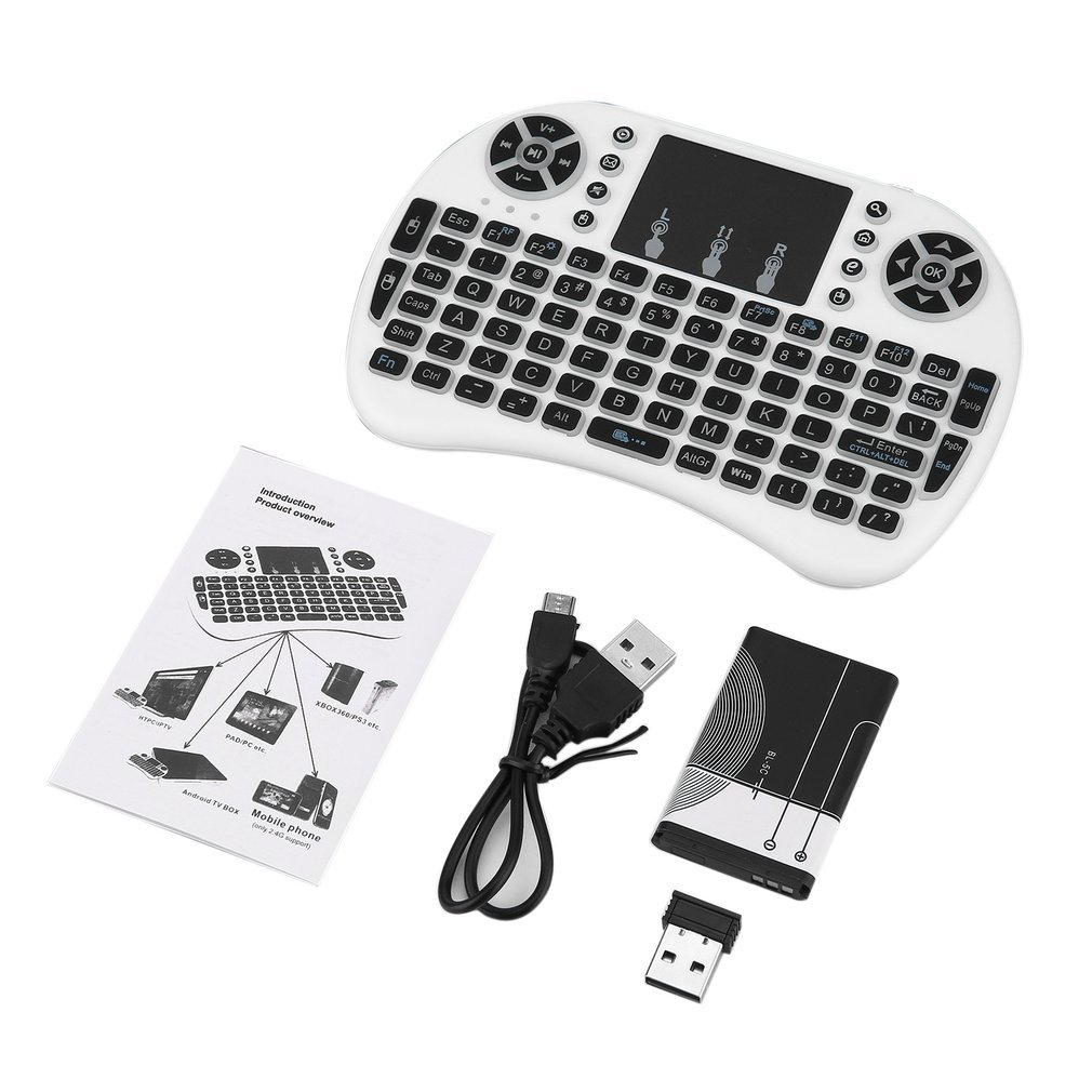 Wireless Keyboard for Android TV Box PC laptop 92 Keys DPI Wireless Keyboard Backlight with Touchpad Mouse adjustable 2.4GHz image