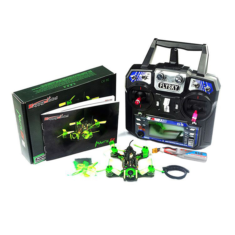 Happymodel Mantis85 85mm FPV Racing Drone Supers_F4 6A BLHELI_S 5.8G 25MW 48CH 600TVL Camera BNF / RTF 2.4G 6CH Remote Flysky