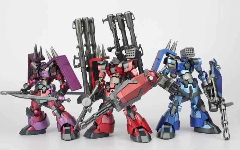 IN-STOCK 1/100 mb metalbuild Rick Dom eva/red/blue/purple color gundam high quality SCMEX action figure robot