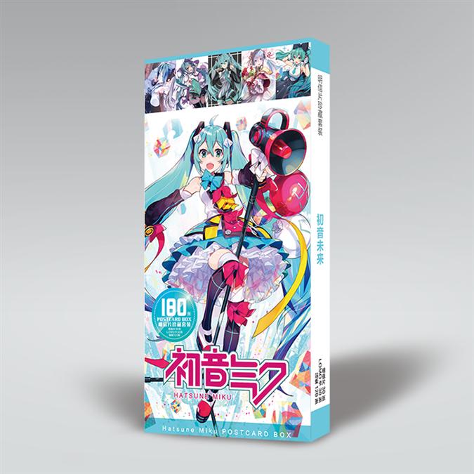 anime-hatsune-miku-font-b-vocaloid-b-font-carte-postale-cartes-postales-autocollant-artbook-cadeau-cosplay-accessoires-livre-ensemble