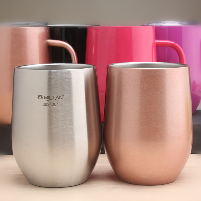 2019 Double Wall Stainless Steel Coffee Portable Cup Travel Tumbler Coffee Jug Milk Tea Cups Double Office Water Mugs 50MKB46