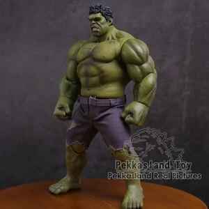 Image 4 - Экшн фигурка Мстители Халк супер герой ПВХ Коллекционная модель игрушка 25 см